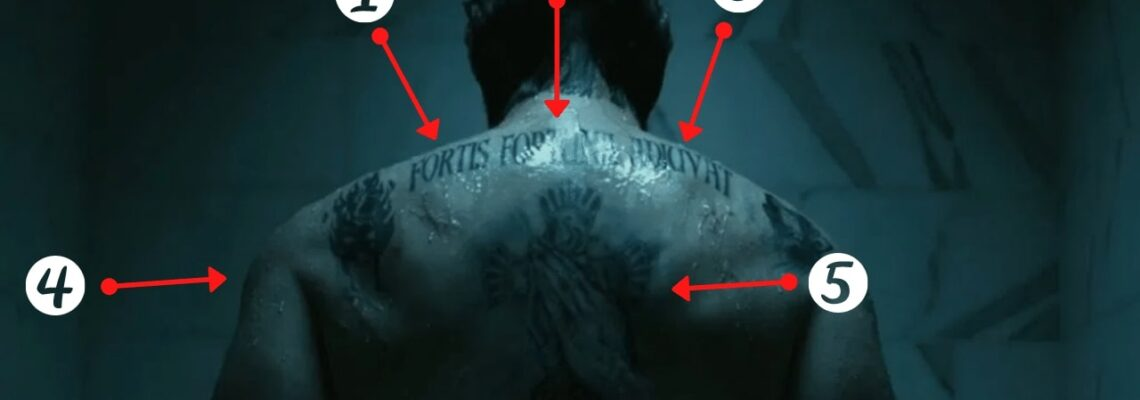 What is Tattooed on John Wick's Shoulders