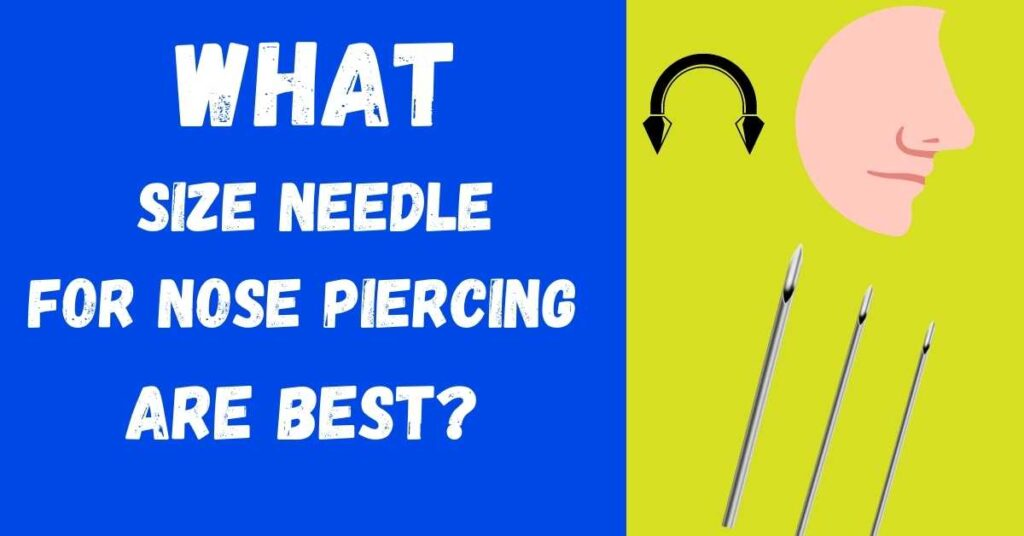 how big is a nose piercing needle
